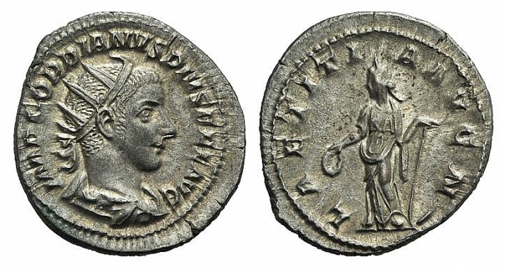 Ancient Coins - Gordian III (238-244). AR Antoninianus. Rome, 240-243.  R/ LAETITIA