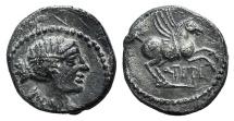 ROME REPUBLIC  Q. Titius, Rome, 90 BC. AR Quinarius