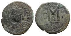 Ancient Coins - Maurice Tiberius (582-602). Æ 40 Nummi - Constantinople, year 3
