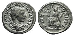 Ancient Coins - Elagabalus (218-222). AR Antoninianus. Rome, AD 218. R/ Roma