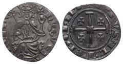 Ancient Coins - Crusaders, Lusignan Kingdom of Cyprus. Hugh IV (1324-1359). AR Gros. Famagusta (?).