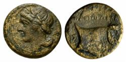 Ancient Coins - ITALY. Southern Campania, Neapolis, c. 320-300 BC. Æ 14mm RARE