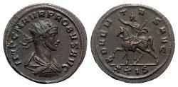 Ancient Coins - Probus (276-282). Radiate - Siscia - R/ Emperor on horseback