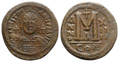 Ancient Coins - Justinian I (527-565). Æ 40 Nummi - Constantinople, year 14