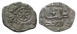 World Coins - Italy, Sicily, Palermo. Guglielmo I (1154-1166). AR Kharruba or Fraction of Dirhem. Star; Kufic legend around. R/ Kufic legend in two lines, fleur-de-lis in centre.