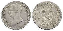 World Coins - Spain, Joseph Napoleon (1808-1814). AR 4 Reales 1810 AI, Madrid