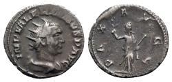 Ancient Coins - Valerian I (253-260). AR Antoninianus - Mediolanum - R/ Pax