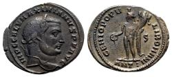 Ancient Coins - Galerius (305-311). Æ Follis - Antioch - R/ Genius