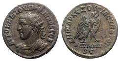 Ancient Coins - Philip I (244-249). Seleucis and Pieria, Antioch. BI Tetradrachm. AD 247. Bust left. R/ EAGLE