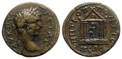 Ancient Coins - Geta (209-211). Moesia Inferior, Tomis. Æ Tetrassarion - R/ Zeus