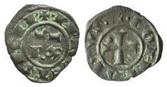 World Coins - Italy, Sicily, Messina. Corrado I (1250-1254). BI Denaro