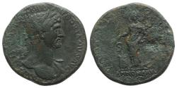 Ancient Coins - Hadrian (117-138). Æ Sestertius. Rome, AD 118.  R/ ANNONA