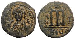 Ancient Coins - Maurice Tiberius (582-602). Æ 40 Nummi - Theoupolis (Antioch), year 1