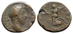Ancient Coins - Marcus Aurelius (161-180). Æ As - R/ Victory