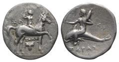 Ancient Coins - ITALY, Calabria, Tarentum. Circa 281-272 BC. AR Nomos