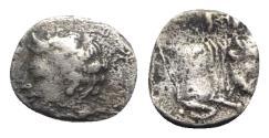 Ancient Coins - Sicily, Panormos as Ziz, c. 405-380 BC. AR Litra