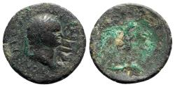 Ancient Coins - Ostrogoths, Uncertain king, early to mid 6th century. Æ 42 Nummi - Countermarked early imperial bronze issue