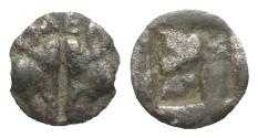 Ancient Coins - Lesbos, Unattributed early mint, c. 500-450 BC. BI 1/12 Stater. Confronted boars' heads