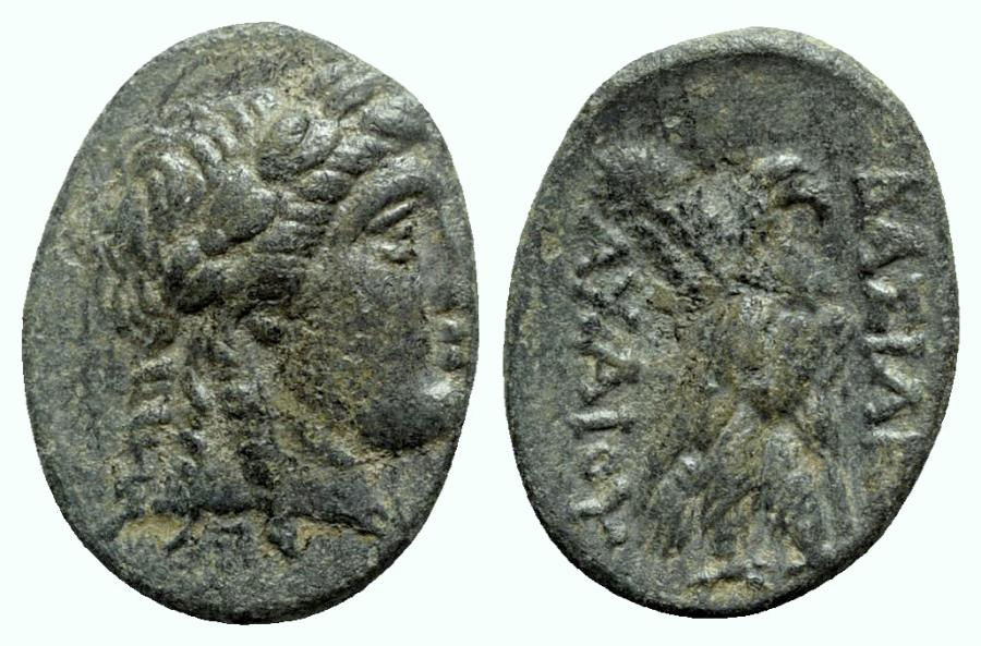 Ancient Coins -  Seleukid Kings, Achaios (Usurper, 220-214 BC). Æ - R/ Eagle