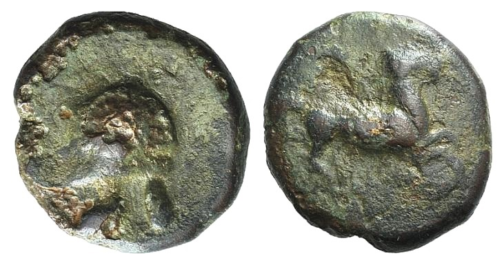 Ancient Coins - Sicily, Entella. Campanian mercenaries, c. 345-338 BC. AE 15mm