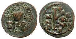 Ancient Coins - Justinian I (527-565). Æ 20 Nummi - Cyzicus, year 24