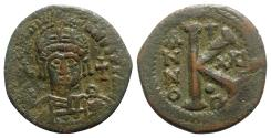 Ancient Coins - Justinian I (527-565). Æ 20 Nummi - Antioch, year 21