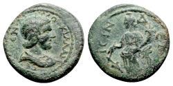 Ancient Coins - Herennia Etruscilla (Augusta, 249-251). Pisidia, Isinda. Æ - R/ Tyche - Scarce