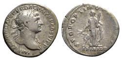 Ancient Coins - Trajan (98-117). AR Denarius - Rome - R/ Arabia