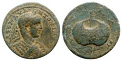 Ancient Coins - Elagabalus (218-222). Phoenicia, Tyre. Æ - R/ Prize urn