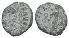 Ancient Coins - Uncertain Emperor. Roman PB Tessera, c. 4th-5th century AD (11mm)  R/  Victory
