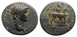 Ancient Coins - Claudius (41-54). Phrygia, Hierapolis. Æ - M. Suillios Antiochos, grammateus