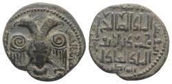 Ancient Coins - ISLAMIC, Anatolia & al-Jazira (Post-Seljuk). Artuqids (Kayfa & Amid). Nasir al-Din Mahmud. AH 597-619 / AD 1200-1222. Æ Dirhem