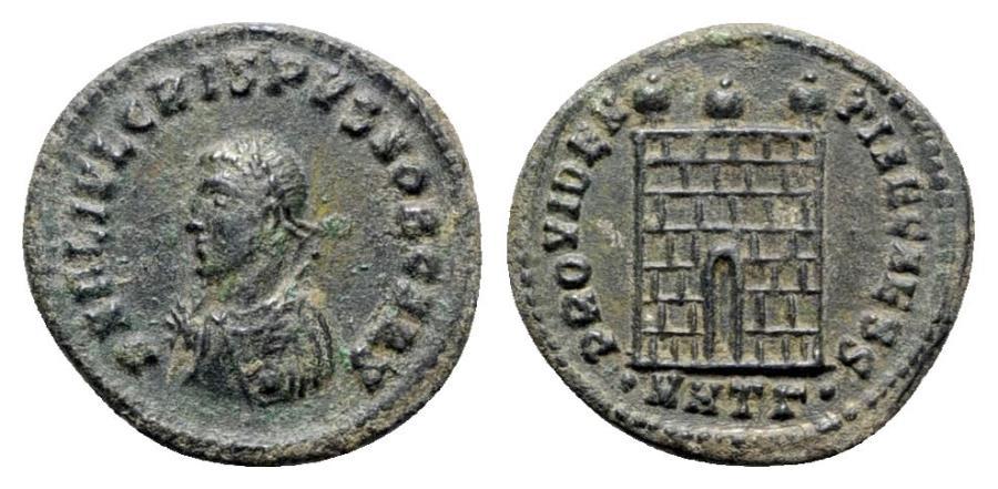 Ancient Coins - Crispus (Caesar, 316-326). Æ Follis - Heraclea