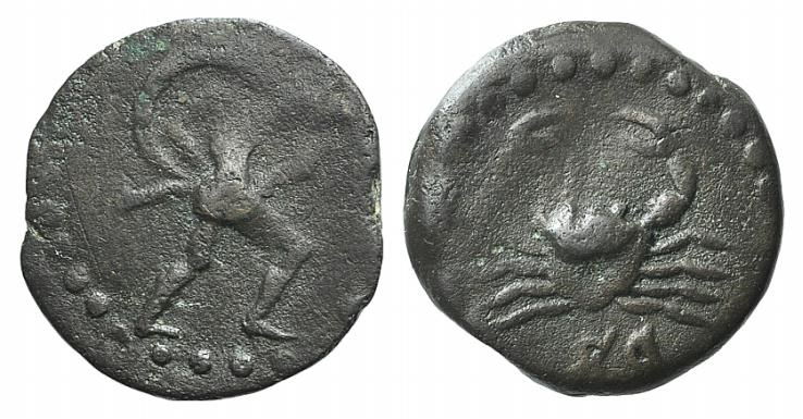 Ancient Coins - Islands of Sicily, Lopadusa, c. 4th-3rd century BC. AE 16mm VERY RARE