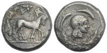 Ancient Coins - SICILY, Syracuse. Deinomenid Tyranny. 485-466 BC. AR Tetradrachm