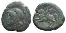 Ancient Coins - Sicily, Tauromenion. Roman rule, after 216/2 BC. Æ 23mm R/ PAGASOS