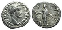 Ancient Coins - Antoninus Pius (138-161). AR Denarius. Rome, 153. R/ Annona