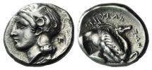 LUCANIA, Velia. Circa 440/35-400 BC. AR Nomos. T Group.