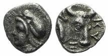 Ancient Coins - Mysia, Kyzikos, c. 410-390 BC. AR Hemiobol