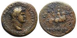 Ancient Coins - Nero (54-68). Æ Sestertius.  Lugdunum, c. AD 65. R/ DECVRSIO (DECURSIO)