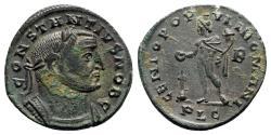 Ancient Coins - Constantius I (Caesar, 293-305). Æ Follis - Lugdunum - R/ Genius