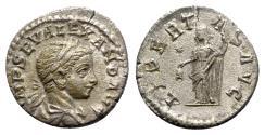 Ancient Coins - Severus Alexander (222-235). AR Denarius - Rome - R/ Libertas