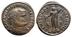 Ancient Coins - Galerius (Caesar, 293-305). Æ Follis - Antioch - R/ Genius