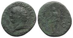 Ancient Coins - Titus (79-81). Æ As. Rome, 80-1. R/ Pax