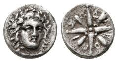 Ancient Coins - Satraps of Karia, Pixodaros AR Obol. Halikarnassos, 340-334 BC. VERY RARE