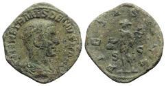 Ancient Coins - Herennius Etruscus (Caesar, 249-251). Æ Sestertius. Rome, AD 250.  R/ Mercury