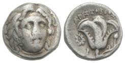 Ancient Coins - Islands of Caria, Rhodos. Rhodes, c. 275-250 BC. AR Drachm
