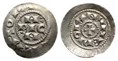 World Coins - Italy, Milano, Enrico III-V (1039-1125). BI Denaro Scodellato