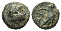 Ancient Coins - Troas, Abydos, c. 320-200 BC. Æ 9mm R/ Eagle