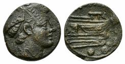 Ancient Coins - ROME REPUBLIC Anonymous. 206-195 BC. Æ Sextans